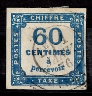 France Timbre Taxe YT N° 9 Oblitéré. Premier Choix Signé Brun. A Saisir! - Segnatasse