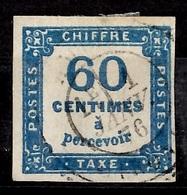 France Timbre Taxe YT N° 9 Oblitéré. Premier Choix Signé Brun. A Saisir! - 1859-1955 Usados