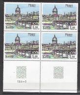 FRANCE 1978 CURIOSITE BLOC 4 TIMBRES 1994 OEUVRE ORIGINALE DE BERNARD BUFFET TYPE D IMPRESSION TD6 -3 - Variétés Et Curiosités