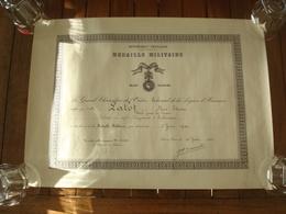 Diplôme Médaille Militaire - 49 RI De Bayonne Mort En 1940. - Documents