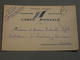 FRANCHISE MILITAIRE. 1939. 370éme RALVF. REGIMENT ARTILLERIE LOURDE SUR VOIE FERREE. - Guerre 1939-45