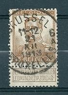 113 Gestempeld BRUSSEL - BRUXELLES 6A - COBA 4 Euro - 1912 Pellens