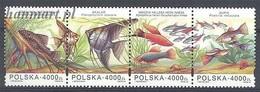 Poland 1994 Mi 3505-3508 MNH ( ZE4 PLDvie3505-3508 ) - Fishes