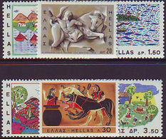 Grecia 1967 Correo 940/43 Diseños Infantiles   **/MNH - Grèce