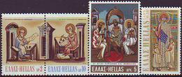 Grecia 1970 Correo 1023/26 Santos Cirilo Y Metodio  **/MNH - Grèce