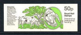 Gd Bretagne 1983 Carnet N° C606a-2 Complet ** Neuf MNH Superbe C 12 € Animaux Rares Ferme Cochon Gloucester Elizabeth II - Libretti