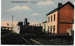 Nord VOLCKERINCKHOVE La Gare (vue Intérieure, Train) - Francia