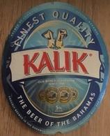 BAHAMAS : KALIK Beer Standard  Label 2019  , With Bottle Top Label And Bottle Back Label - Cerveza