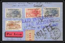 41432 Paris Saigon 1929 RAID Accidenté Costes Muller 204 N° 230/232 Orphelins Aviation Poste Aérienne Airmail Lettre - 1927-1959 Covers & Documents