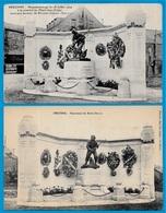 CPA 80 PERONNE Somme - Monument Du Marin DELPAS (Lot De 2) ** MILITARIA Militaire Soldat - Peronne