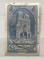 Timbre France YT 399 (°) Obl 1938, Fête De La Cathédrale De Reims 65c+35c Outremer (12,5 Euros) – 49 - Frankrijk
