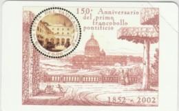 SCHEDA TELEFONICA NUOVA VATICANO SCV99 ANNIVERSARIO FRANCOBOLLO - Vaticano