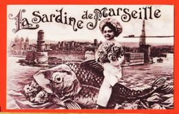 X13427 MARSEILLE (13) La SARDINE De MARSEILLE Filette 1910s LEVY-NEURDEIN - Vieux Port, Saint Victor, Le Panier