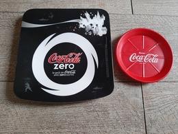 Lot Coca Cola  Zéro  Ramasse Monnaie Dessous De Bouteille Plastique Publicité - Sonstige