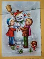 KOV 8-178 - NEW YEAR, Bonne Annee, Children, Enfant, SNOWMAN, BONHOMME DE NEIGE,  Champignon, Mushroom - Nouvel An