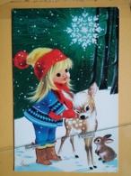 KOV 8-179 - NEW YEAR, Bonne Annee, Children, Enfant, - Fawn, Faon - Nouvel An