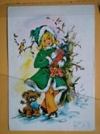 KOV 8-179 - NEW YEAR, Bonne Annee, Children, Enfant, DOG, CHIEN - Nouvel An