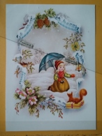 KOV 8-179 - NEW YEAR, Bonne Annee, Children, Enfant, Squirrel, écureuil, - Nouvel An