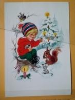 KOV 8-179 - NEW YEAR, Bonne Annee, Children, Enfant, Squirrel, écureuil, MOUSE, MAUS - Nouvel An