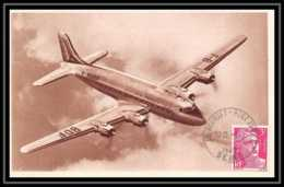 41963 France Aviation Le Bourget 1948 Collection Air France Marianne Gandon Airmail Carte Postale (postcard) - Marcophilie (Lettres)