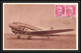 41966 France Aviation Le Bourget 1948 Collection Air France Marianne Gandon Airmail Carte Postale (postcard) - Marcophilie (Lettres)