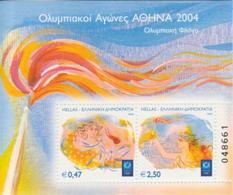 Grecia 2004 Hojas Bloque 29 Llama Olímpica   **/MNH - Greece