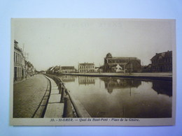 GP 2019 - 2209  SAINT-OMER  (Pas-de-Calais)  :  Quai Du HAUT-PONT  -  Place De La GHIERE   XXXX - Saint Omer