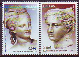 Grecia 2007 Correo 2412/3 Afrodita Y Eros/Emis.conj.Armenia (2s)  **/MNH - Greece