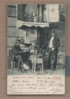 CPA ITALIE - NAPLES - NAPOLI - Rattoppa Scarpe , Ciabattino - TB GROS PLAN ANIMATION Métier + Jolie Oblitération 1902 - Napoli