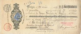 661/30 - Lettre De Change TP Fine Barbe LIEGE 1898 - Entete Soc. Liégeoise D' Estampage Vignoul , Usine à Canons - 1893-1900 Barba Corta