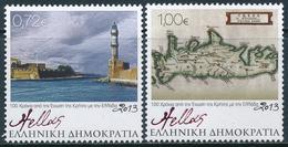 Grecia 2013 Correo 2683/84 Conmemorativo: 100A Union Grecia -Creta  **/MNH - Ongebruikt