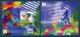 Grecia 2014 Hojas Bloque 83/84 Fifa (2HB)  **/MNH - Ongebruikt