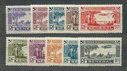 Senegal - Aereo Yvert 1/10 * Mh - Senegal (1960-...)