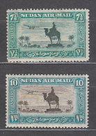Sudan - Aereo Yvert 19/20 * Mh - Soudan (1954-...)