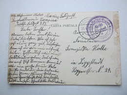 RUMÄNIEN , Feldpostkarte : Marine Begleitkommando CAMPINA, Selten  1918 - Cartas De La Primera Guerra Mundial