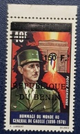 BENIN 1970 150 F PA GENERAL DE GAULE GAULLE DEGAULE DEGAULLE- OVERPRINTED OVERPRINT SURCHARGED SURCHARGE OVPT - RARE MNH - Benin - Dahomey (1960-...)