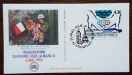 FDC 1994 - YT N°2883 - TUNNEL SOUS LA MANCHE - COQUELLES - FDC