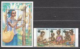 Tanzania - Correo Yvert 1738/40+H 255 ** Mnh - Tansania (1964-...)