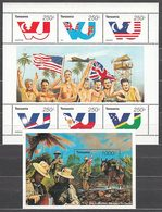 Tanzania - Correo Yvert 1787/92+H 264 ** Mnh   Banderas - Tansania (1964-...)