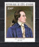 COTE D'IVOIRE N° 610  NEUF SANS CHARNIERE COTE 4.00€  GOETHE   VOIR DESCRIPTION - Ivory Coast (1960-...)