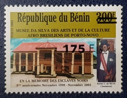 BENIN 2003 175 F - MUSEE MUSEUM - OVERPRINTED OVERPRINT SURCHARGED SURCHARGE OVPT - RARE MNH - Benin - Dahomey (1960-...)