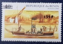 BENIN 1995 135 F - BATEAUX SHIPS TRANSPORT - OVERPRINTED OVERPRINT SURCHARGED SURCHARGE OVPT - RARE MNH - Benin - Dahomey (1960-...)