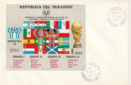 "FDC - PARAGUAY - BL N°320 (1978) ""Argentina 78"" - 1978 – Argentine"