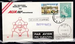 Brief Van Bruxelles-Brussel AXT Naar Wien - Belgique