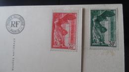 FRANCE 1937 SAMOTHRACE N°354 355 Sur Carte Postale - Francia