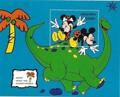 MWD-090458-2 MDR MINT PF/MNH ¤ UGANDA1993 BLOCK ¤ THE WORLD OF WALT DISNEY -- FRIENDS OF WALT DISNEY - Disney
