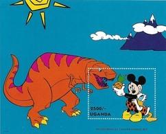 MWD-BK7-458-3 MDR MINT PF/MNH ¤ UGANDA1993 BLOCK ¤ THE WORLD OF WALT DISNEY -- FRIENDS OF WALT DISNEY - Disney