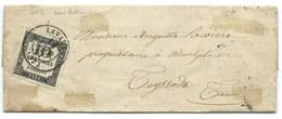 TAXE N° 2 10c  SUR LETTRE / LAVAUR TARN POUR TEYSSODE / 1861 / AVEC CORRESPONDANCE - Portomarken