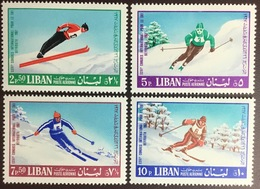 Lebanon 1968 Ski Congress 4 Values MNH - Libano