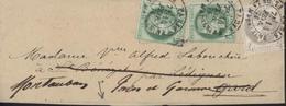 YT 52 + 53 X2 CAD Paris Pl Madeleine 14 Fe 76 Sur Bande De Journal Réexpédiée - Marcophilie (Lettres)